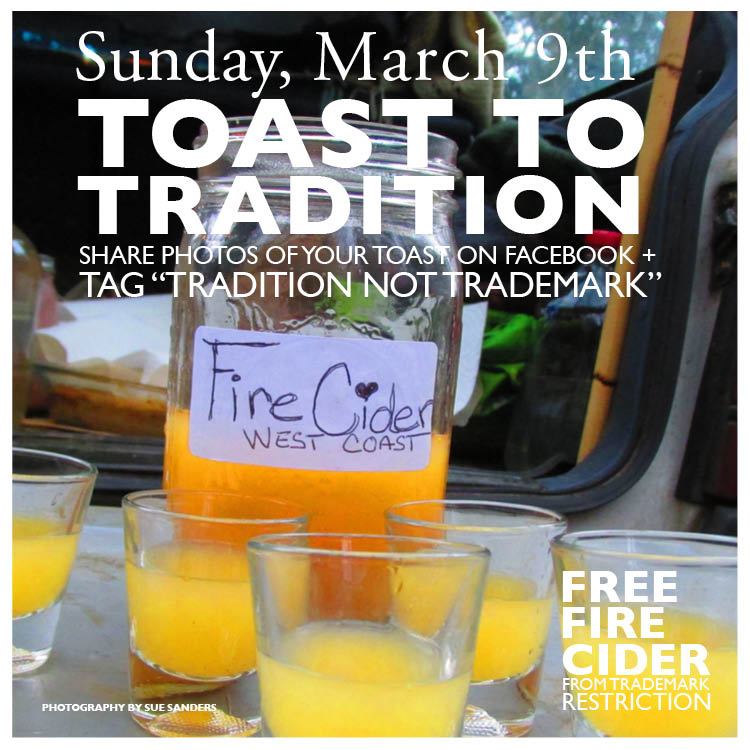 Make a Fire Cider toast on Sunday, March 9th!