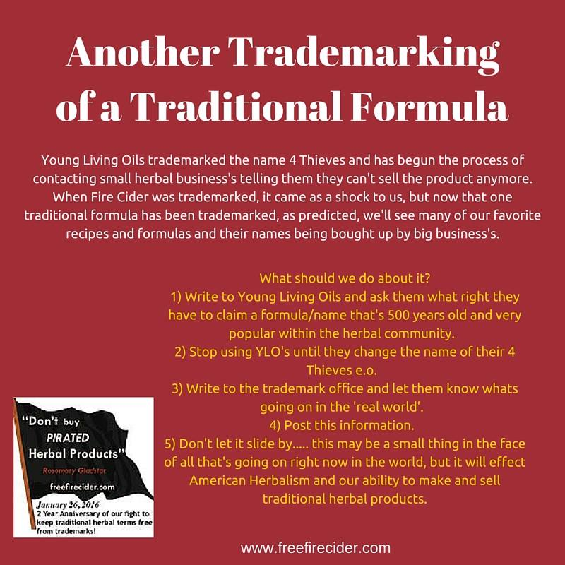 Note from Rosemary about Young Living's trademark on